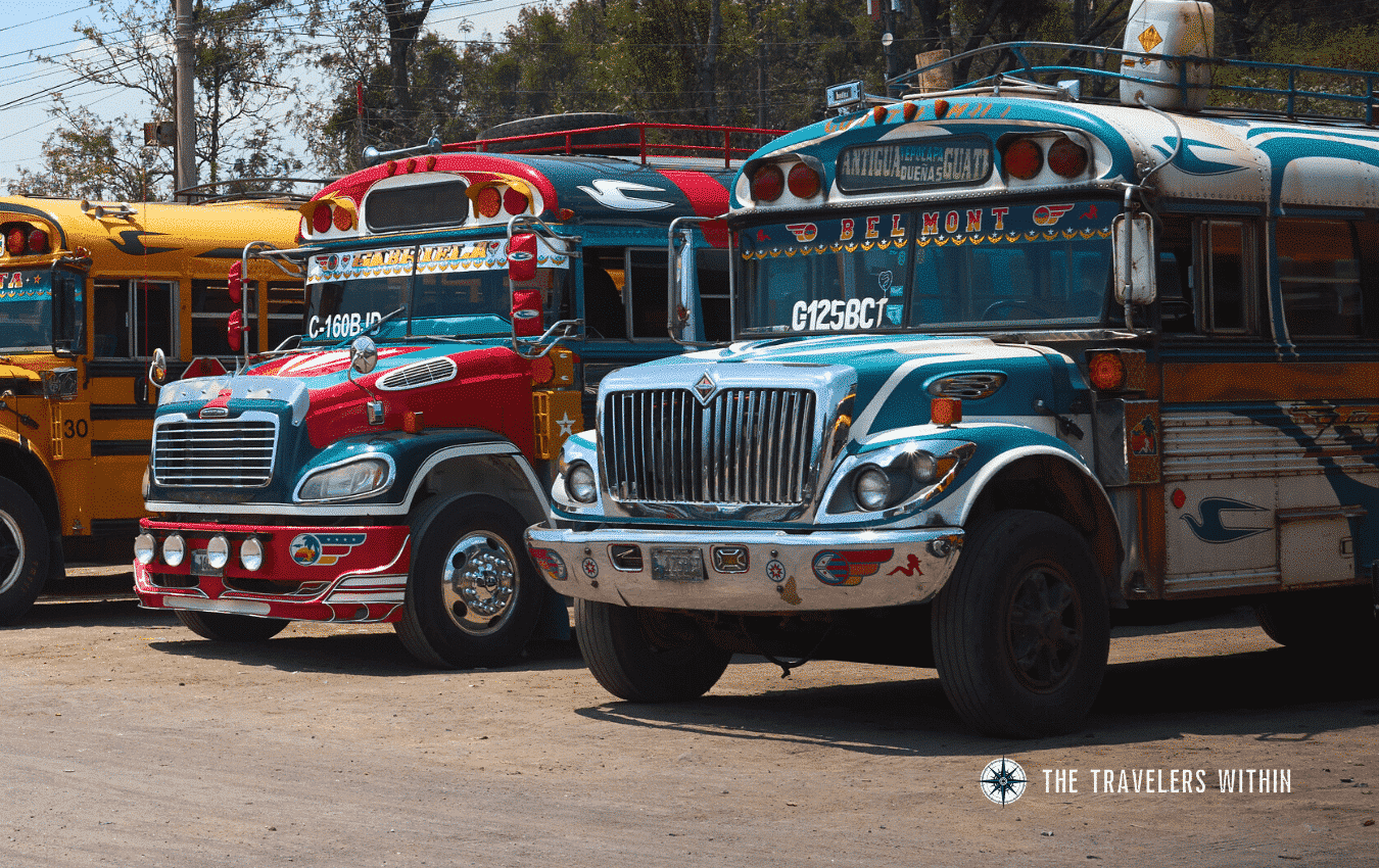 Chicken Buses Guatemala In The Travelers Within